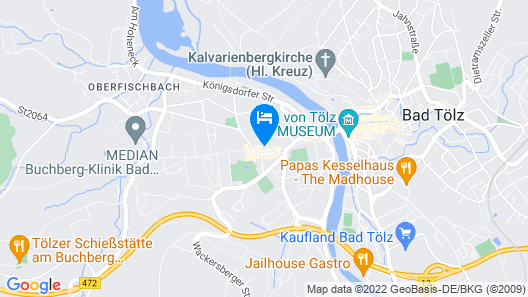 BSW - Ferienhotel Isarwinkel Map
