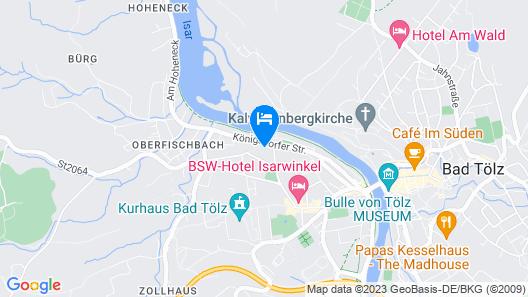 Chalet Bad Tölz Map