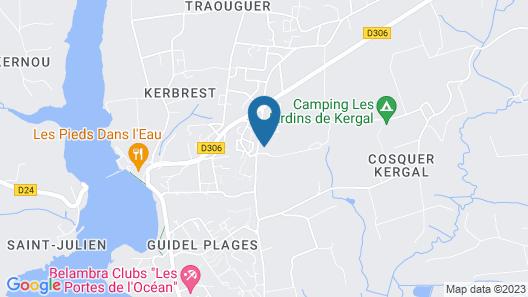 Les Logis de Kerdrien Map