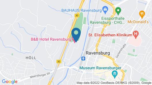 B&B Hotel Ravensburg Map