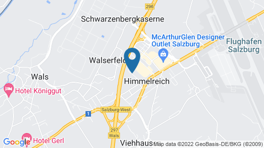 Star Inn Hotel Salzburg Airport-Messe Map