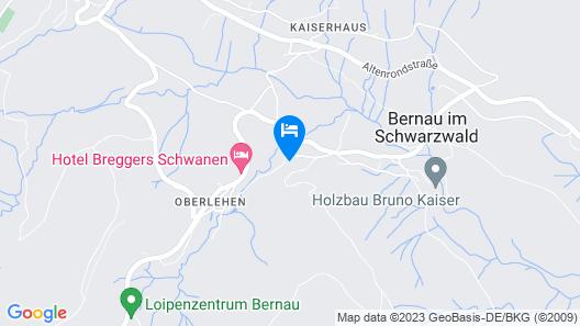 Alluring Apartment in Bernau im Schwarzwald With Valley View Map