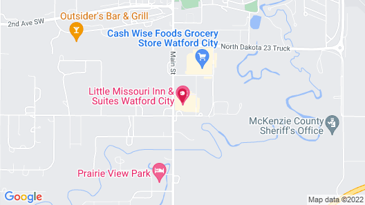 Teddy's Residential Suites Watford City Map