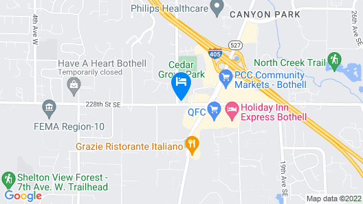 Extended Stay America Suites Seattle Bothell West Map