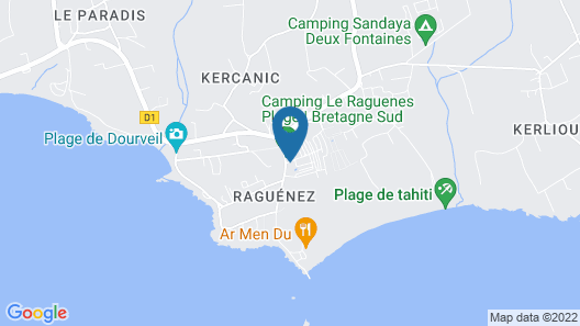 Camping Le Raguenes Plage Map