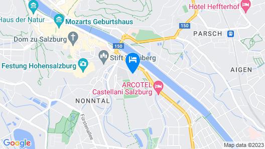 JUFA Hotel Salzburg Map