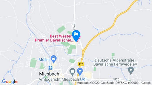 Best Western Premier Bayerischer Hof Miesbach Map