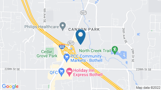 Extended Stay America - Seattle - Bothell - Canyon Park Map