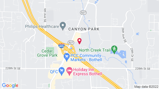 Extended Stay America Suites Seattle Bothell Canyon Park Map