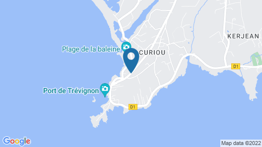 On one Side the Heat, on the Other the Ocean on the big Screen at the tip of Trévignon Map