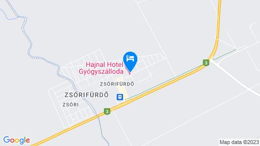 Hajnal Hotel Mezokovesd Map
