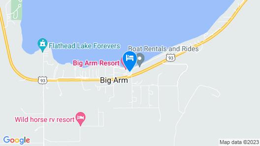 Big Arm Resort  Map