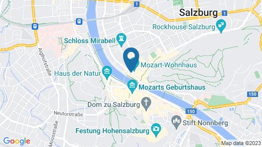 Hotel Sacher Salzburg Map