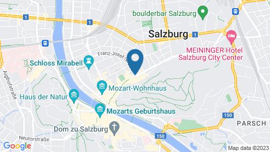 Altstadt Hotel Hofwirt Salzburg Map