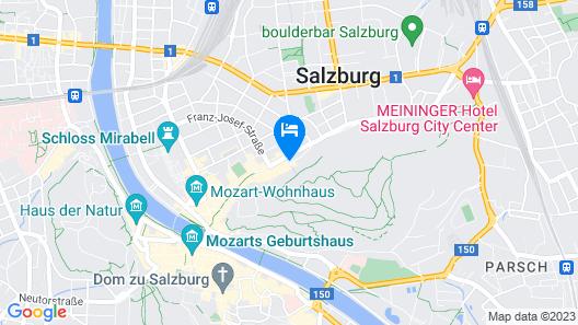 AllYouNeed Hotel Salzburg Map