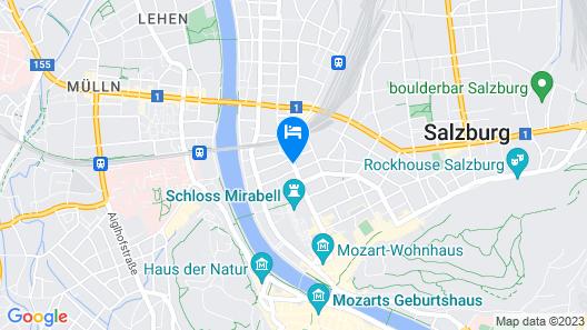 IMLAUER Hotel Pitter Salzburg Map