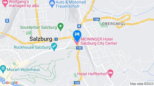 MEININGER Hotel Salzburg City Center Map