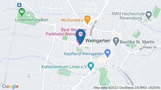 Best Western Parkhotel Weingarten Map