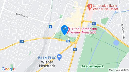 Hilton Garden Inn Wiener Neustadt, Austria Map