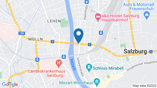 Plaza Inn Salzburg City Map