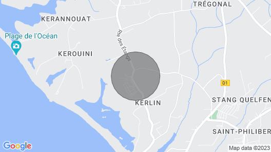 Propriété de Caractère Rénovée- Spacieuse - Charme Breton à 800 m des Plages Map