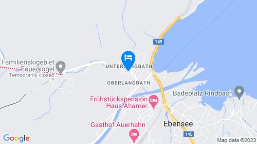 Schlafmeile Traunsee - Hotel Garni Map