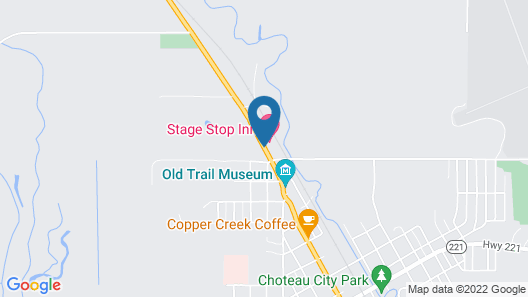 Choteau Stage Stop Inn Map