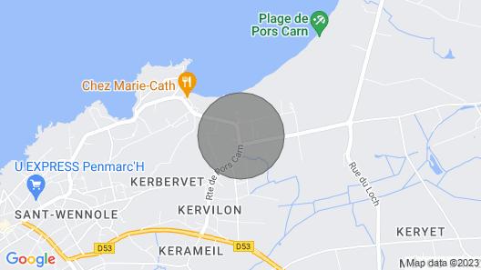 Cabane de Plage à 100 Mètres de la Plage de Pors Carn Map