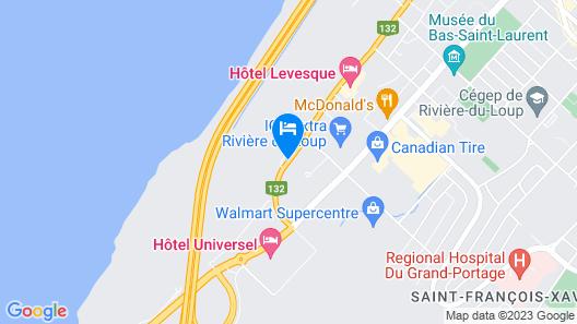 Motel au Fleuve d'Argent Map