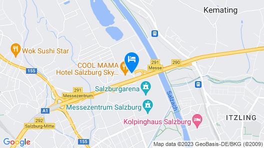 COOL MAMA Hotel Salzburg Sky Restaurant Map