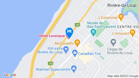 Hôtel Levesque Map