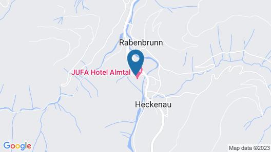 JUFA Hotel Grünau Map
