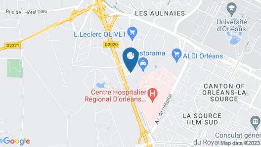 Comfort Hotel Orleans Olivet Provinces Map