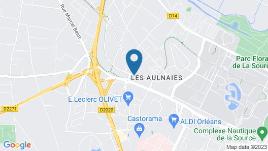 Comfort Hotel Orleans Olivet Map