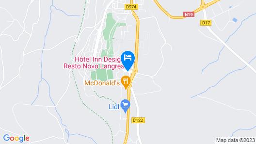 Hôtel Inn Design Langres Resto Novo Map