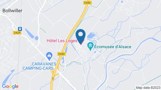 Les Loges de l'Ecomusée D'Alsace Map
