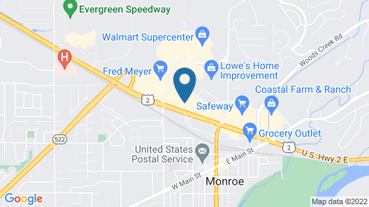 Evergreen Inn and Suites Map