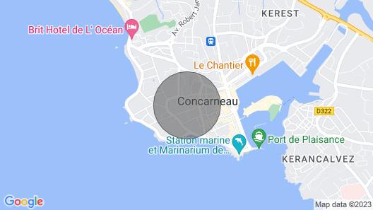 Apartamento com Jardim, 63 m2, Perto da Praia e da Cidade, Calmo e Fechado Map