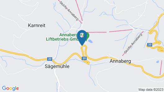 JUFA Hotel Annaberg Map