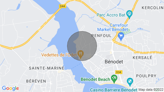 Bénodet, Kercreven Fisherman's House With sea View Comfort, Calm. Ideal Holiday Map