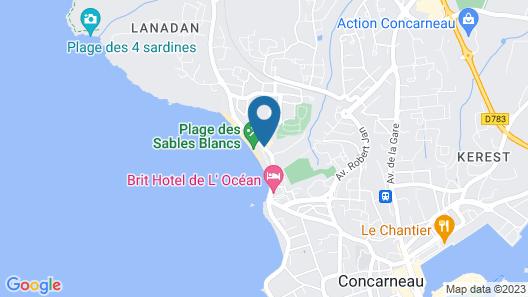 Résidence Thalasso Concarneau Map