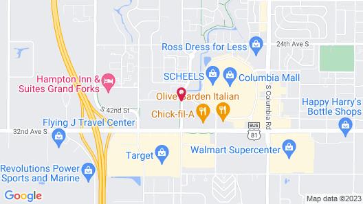 Fairfield Inn Grand Forks Map