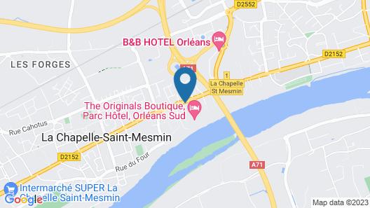 The Originals Boutique, Parc Hôtel, Orléans Sud Map