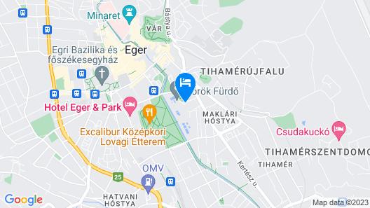 Hunguest Hotel Flora Map