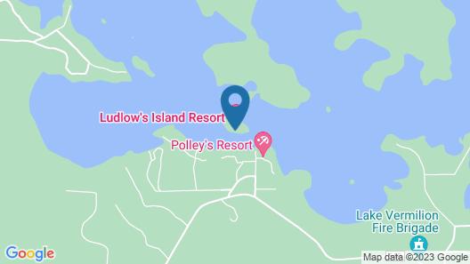 Ludlow's Island Resort Map