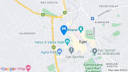 Hotel Korona Eger Map