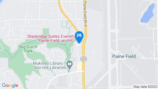 Staybridge Suites Everett-Paine Field, an IHG Hotel Map