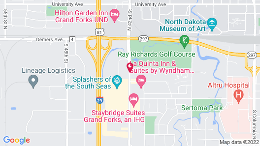 Canad Inns Destination Center Grand Forks Map