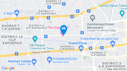 The Grand Hill Hotel Map