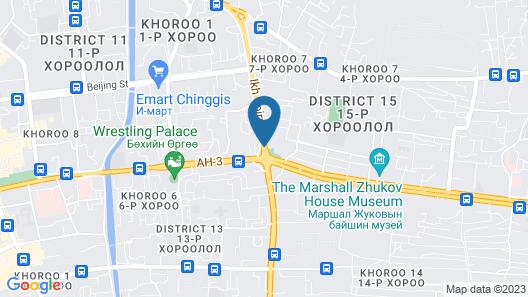 Kempinski Hotel Khan Palace Map